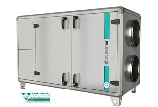 Приточно-вытяжная установка Systemair Topvex SX06 HWL-L AHU-C